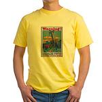 Careless Work Warning Poster Art Yellow T-Shirt