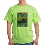 Careless Work Warning (Front) Green T-Shirt