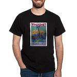 Careless Work Warning (Front) Black T-Shirt