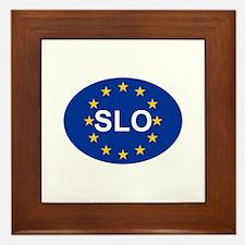 EU Slovenia Framed Tile