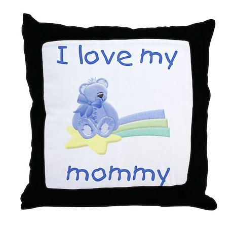 I love my mommy (bl bear star) Throw Pillow