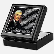 Jefferson: Liberty vs. Tyrann Keepsake Box