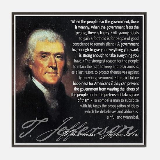 Jefferson: Liberty vs. Tyrann Tile Coaster