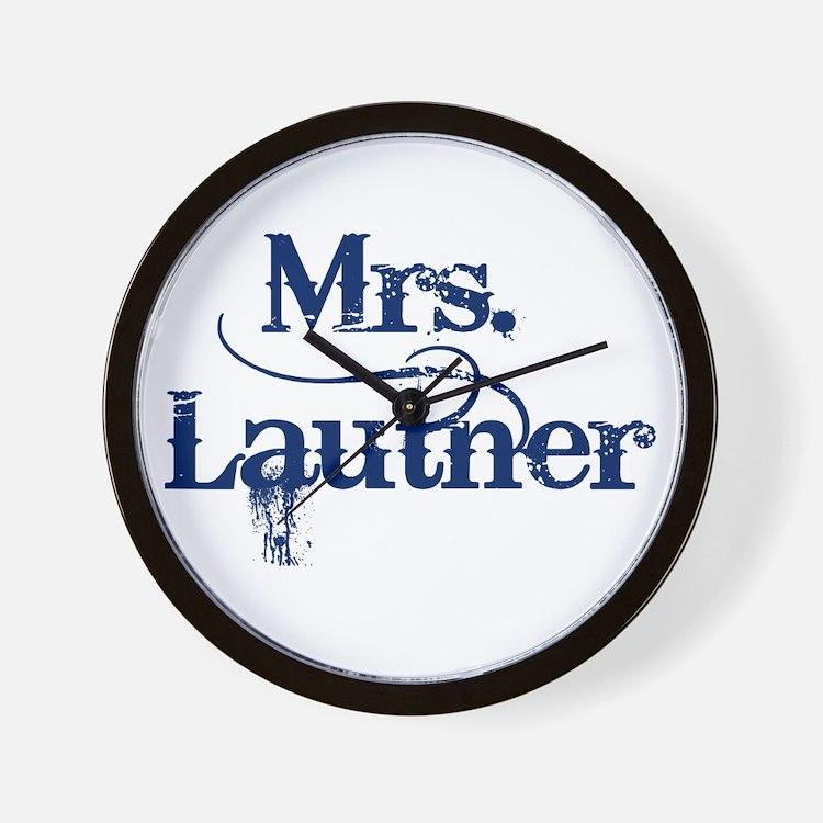 Mrs. Lautner Wall Clock