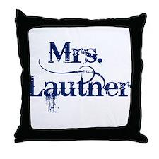 Mrs. Lautner Throw Pillow