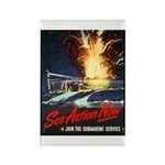 Submarine Service Poster Art Rectangle Magnet