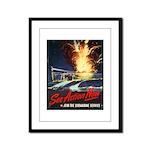 Submarine Service Poster Art Framed Panel Print