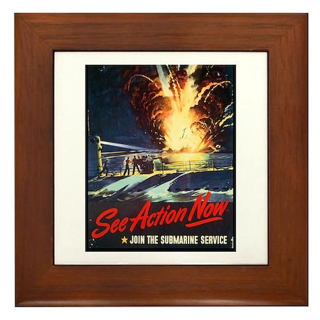Submarine Service Poster Art Framed Tile