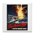 Submarine Service Poster Art Tile Coaster