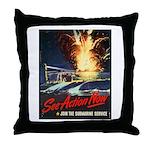 Submarine Service Poster Art Throw Pillow