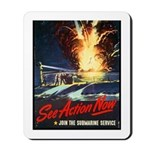 Submarine Service Poster Art Mousepad