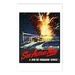 Submarine Service Poster Art Postcards (Package of
