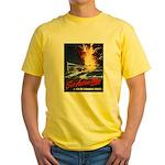 Submarine Service Poster Art Yellow T-Shirt