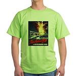 Submarine Service Poster Art (Front) Green T-Shirt