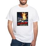 Submarine Service Poster Art (Front) White T-Shirt