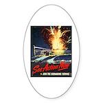 Submarine Service Poster Art Oval Sticker