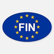 EU Finland Sticker (Oval)