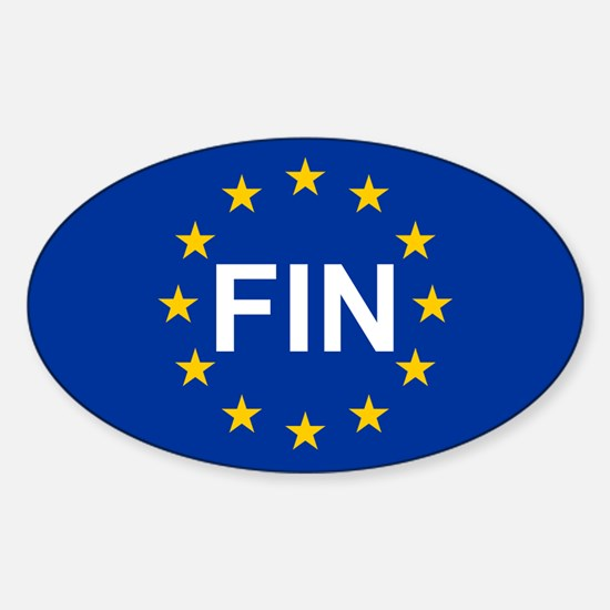 EU Finland Sticker (Oval)