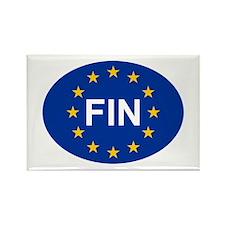 EU Finland Rectangle Magnet