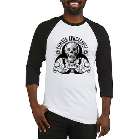 Zombie Apocalypse (halftone) Baseball Jersey