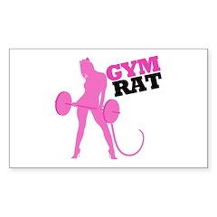 Gym Rat Sticker (Rectangle)