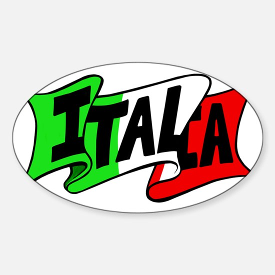Italy boot Sticker (Oval)