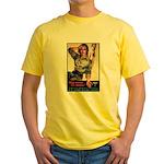 More Nurse Poster Art (Front) Yellow T-Shirt