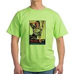 More Nurse Poster Art (Front) Green T-Shirt