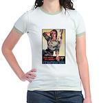 More Nurse Poster Art (Front) Jr. Ringer T-Shirt