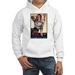 More Nurse Poster Art (Front) Hooded Sweatshirt