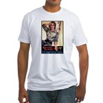 More Nurse Poster Art (Front) Fitted T-Shirt