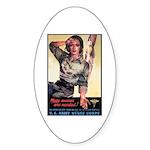 More Nurses Poster Art Oval Sticker