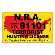 N.R.A. Terrorist Hunting License Decal
