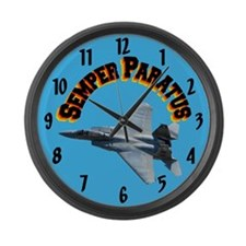 F15 Semper Paratus Large Wall Clock