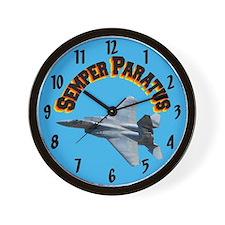 F15 Semper Paratus Wall Clock