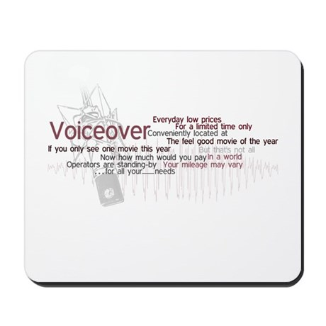 Voiceover: Ad Cliches Mousepad