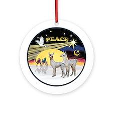 Xmas Dove - Two Baby Llamas Ornament (Round)