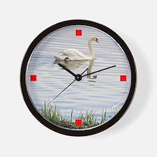 Swan on Pleasant Bay Wall Clock