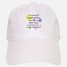 Make Peace/Imagine War Baseball Baseball Cap