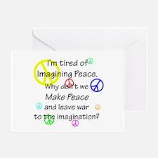 Make Peace/Imagine War Greeting Card