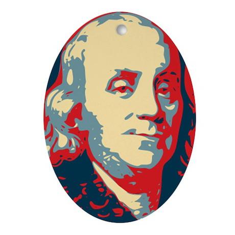 Christmas ornament Ben Franklin Charity