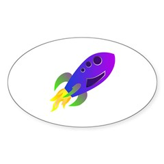 Rocket ship Decal