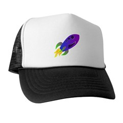 Rocket ship Trucker Hat