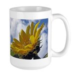 Sunflowers and Sky Large Mug
