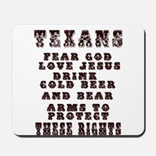 Texans Right to Bare Arms Mousepad