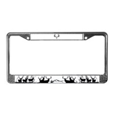 European mount mule deer License Plate Frame
