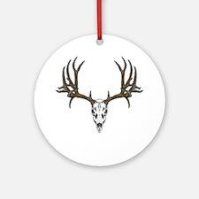 European mount mule deer Ornament (Round)