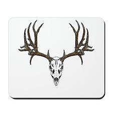 European mount mule deer Mousepad
