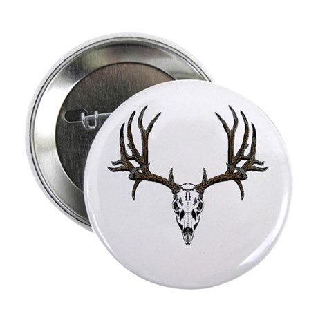 "European mount mule deer 2.25"" Button (100 pack)"