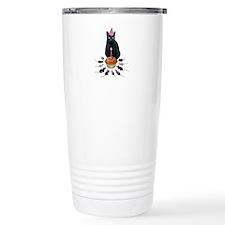 Black Cat Birthday Rats Travel Coffee Mug